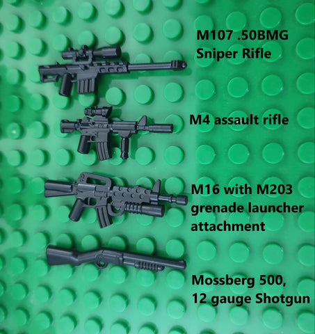 american military weapons in brickarms form