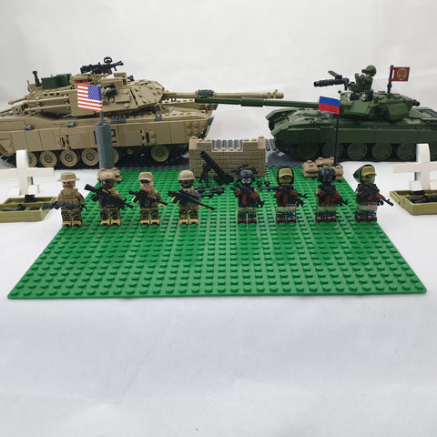 American army toys and Russian army toys