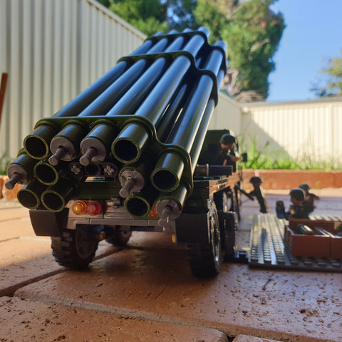 12 tubes of the PHL03 Rocket system