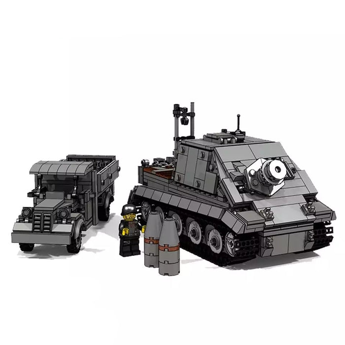 WW2 German Sturmtiger Assault Tank + Opel Truck