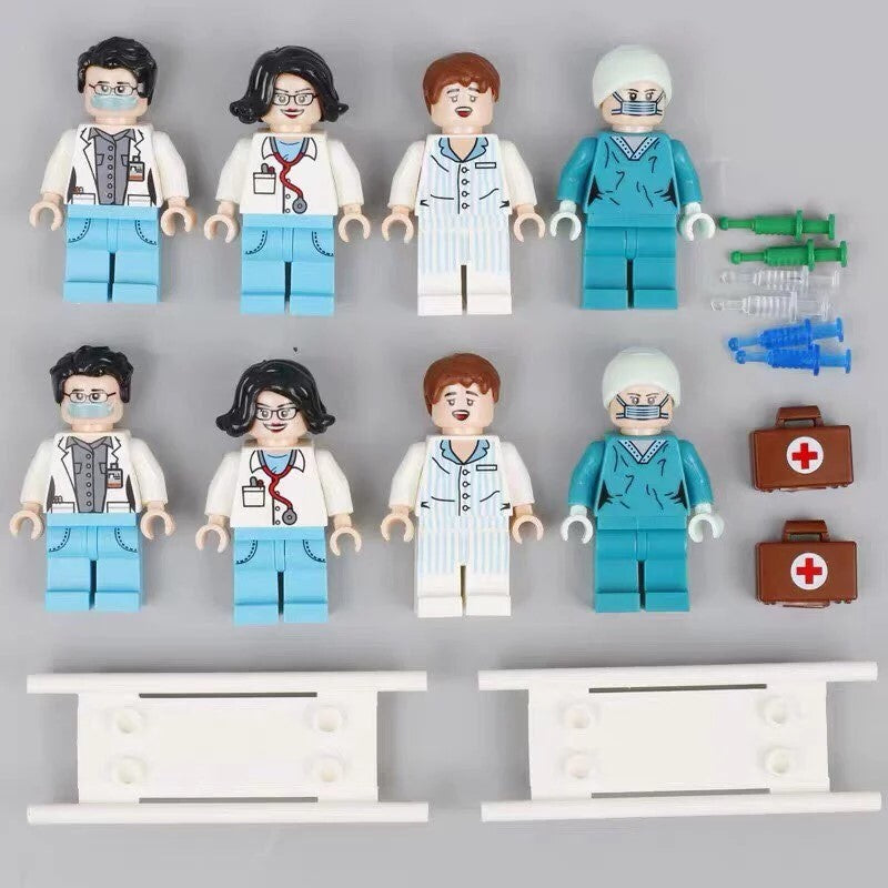The City Medical team custom figures