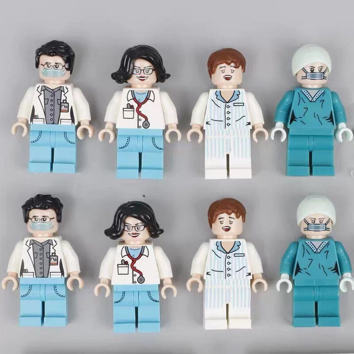 custom brick built health care workers figs