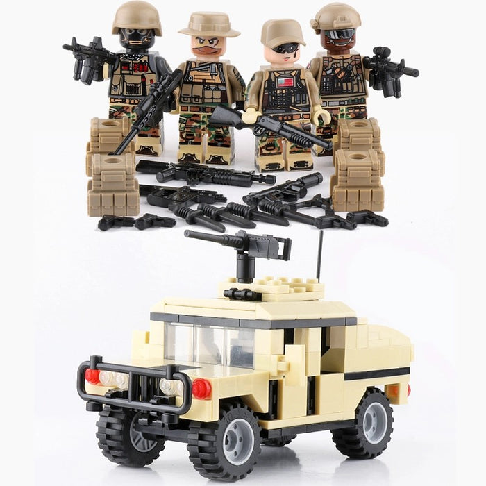 HMMWV M1025 with American security crew
