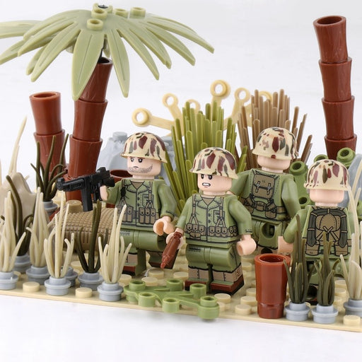 WW2 US Marines in the pacific brick built MOC