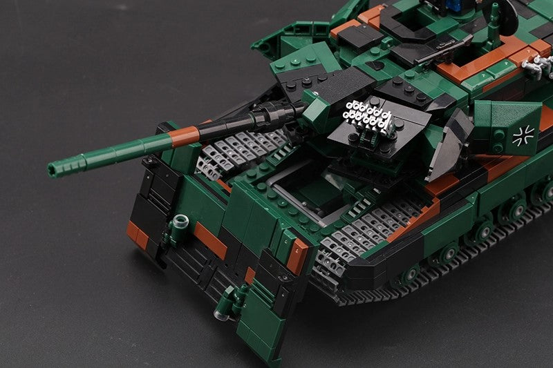 Close up of MOC German army brick built battle tank