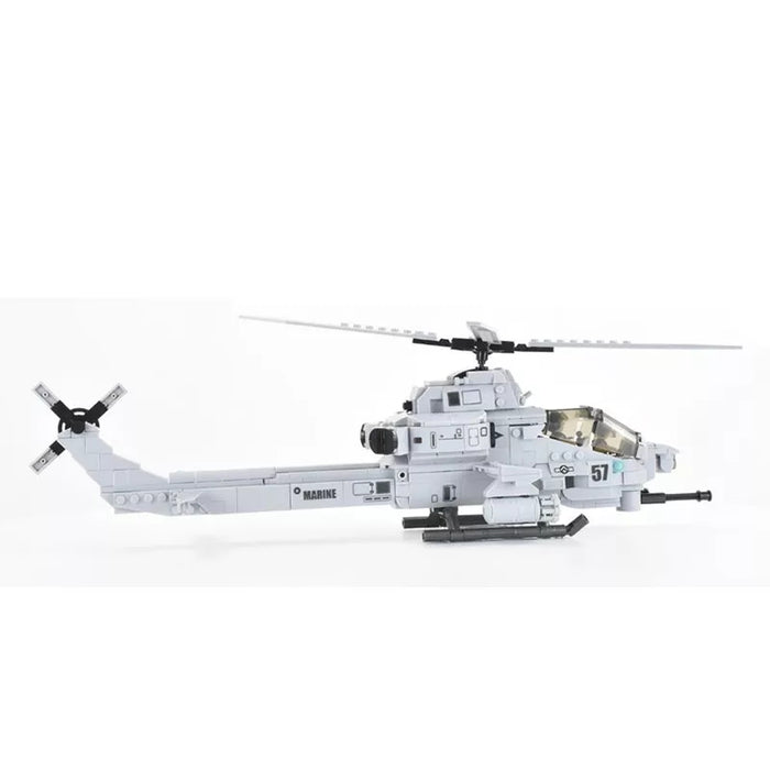 Brick Block Army AH-1Z Viper Attack helicopter