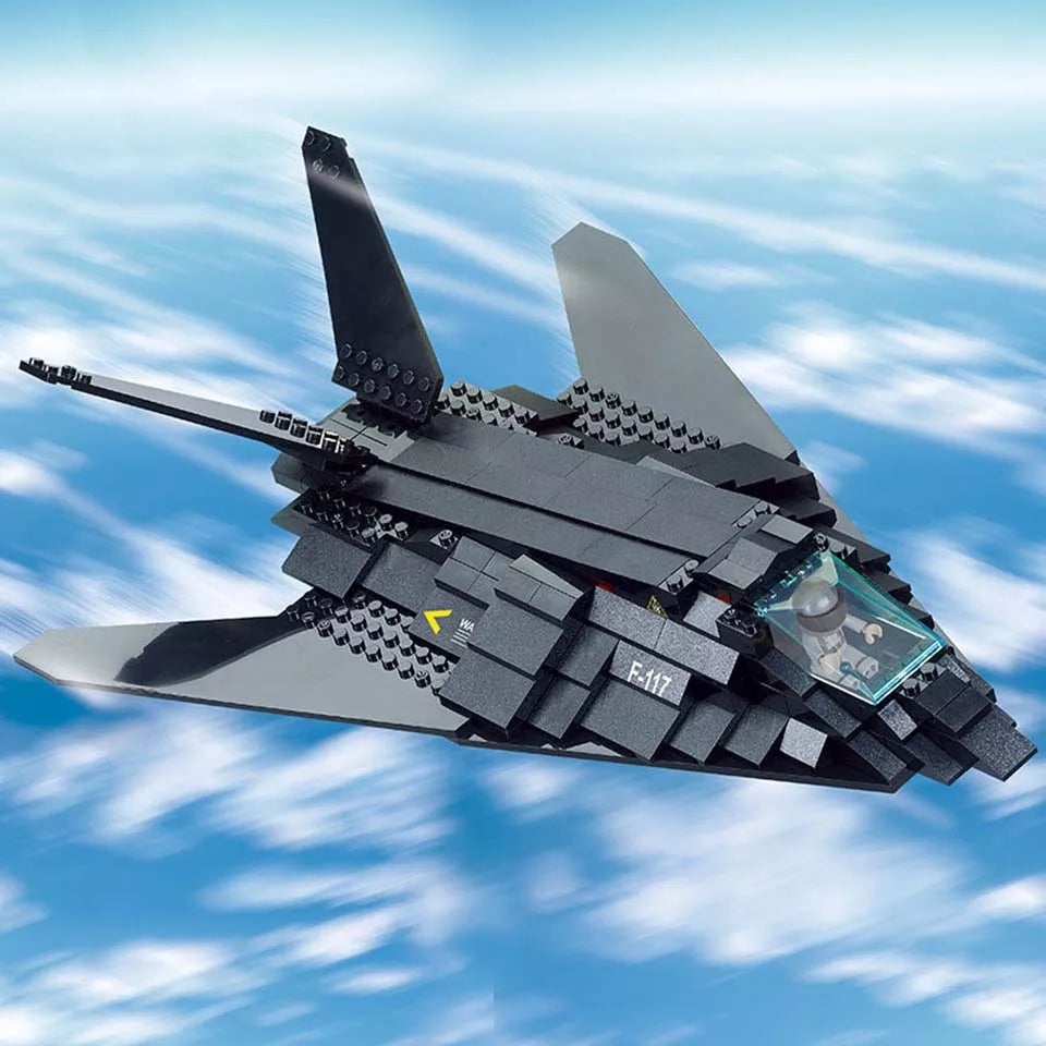 compatible lego F-117 Stealth fighter