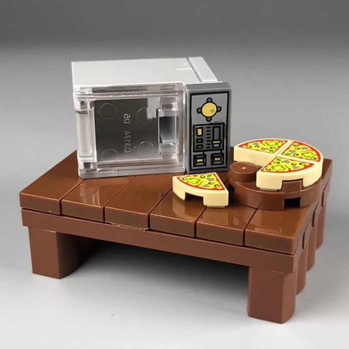 compatible lego microwave and pizza