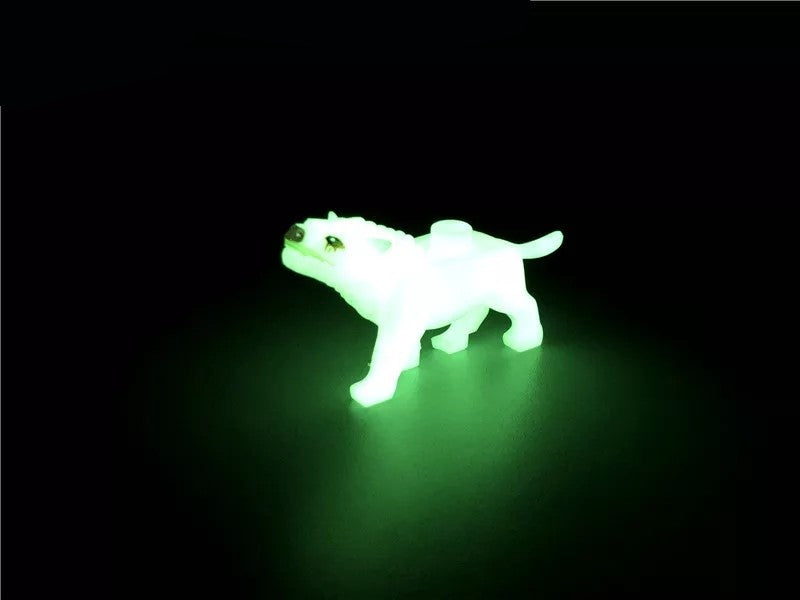 Glow in the dark wolf toy