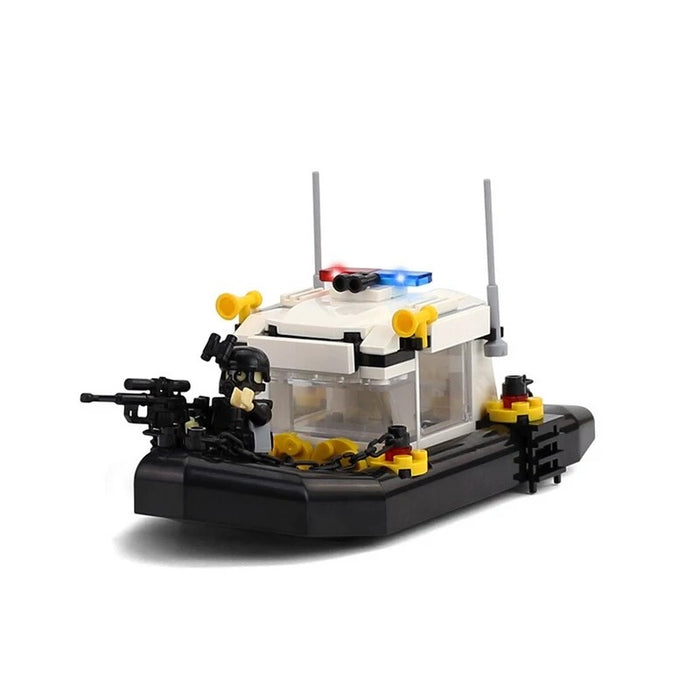 compatible lego mini patrol swat boat