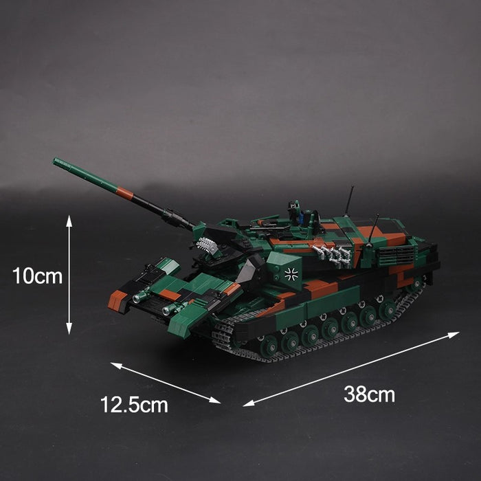 Custom brick built German Army Leopard 2AA6 MBT