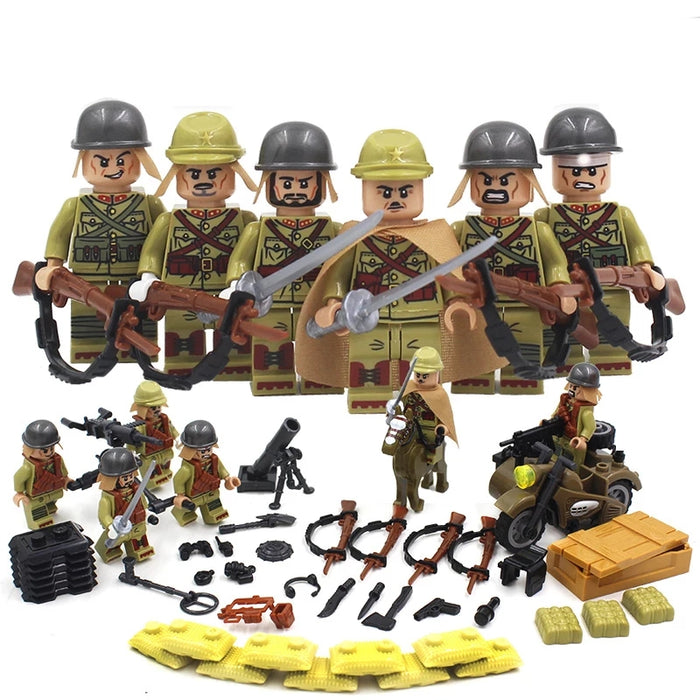 Custom brick built ww2 Japanese figures
