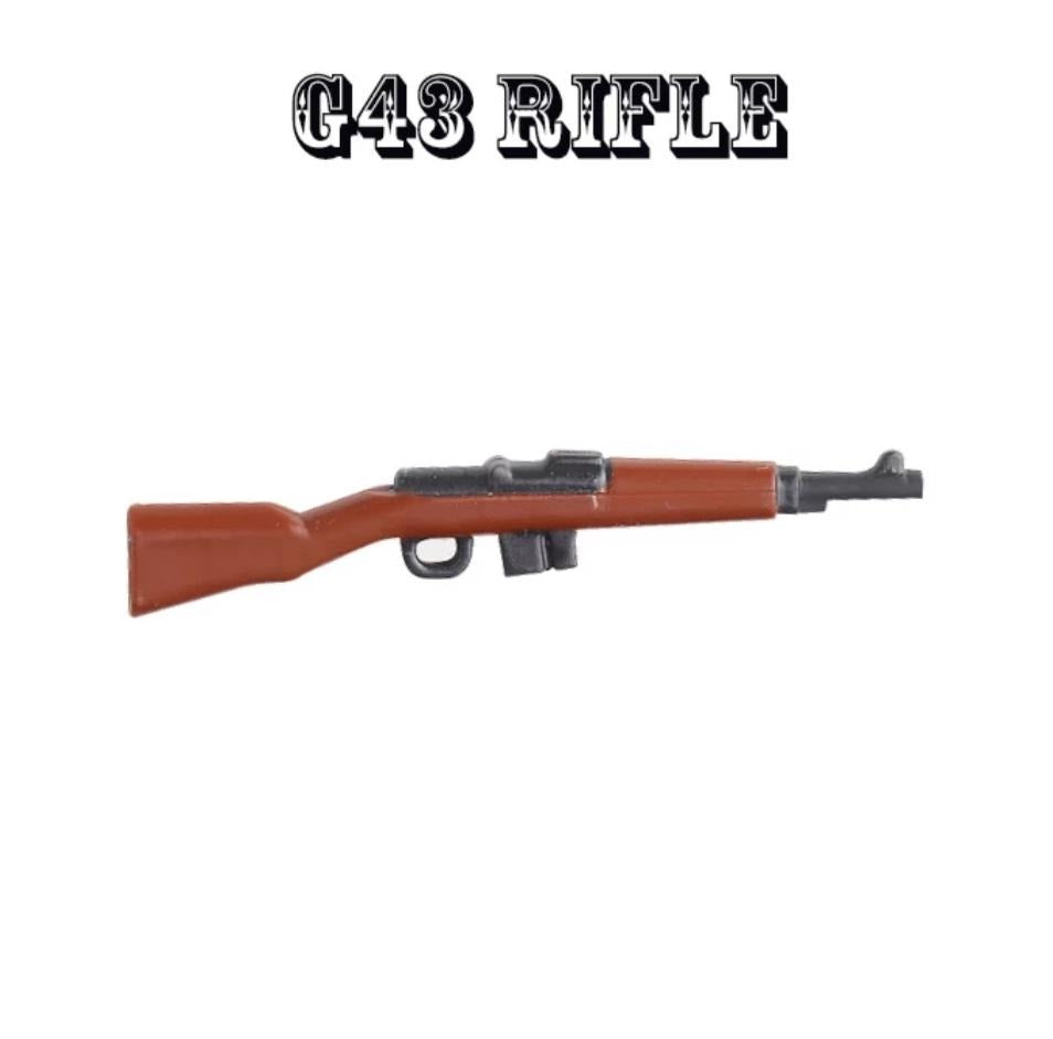 compatible lego army ww2 g43 toy rifle