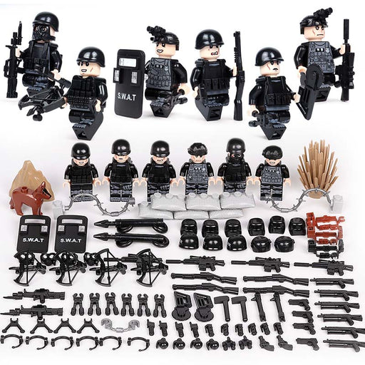 Custom SWAT law enforcement figures