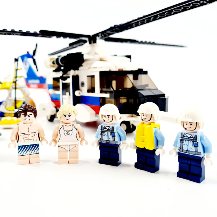 Crew of the US Coast guard rescue helicopter
