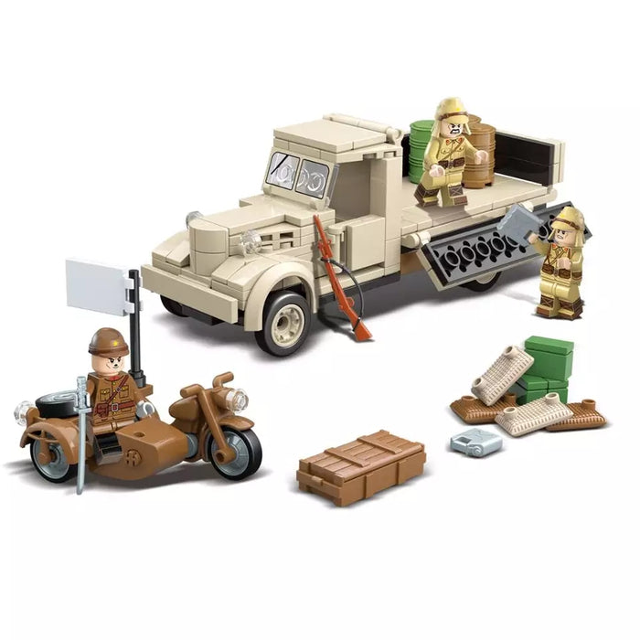 brick built ww2 Japanese 180 series truck