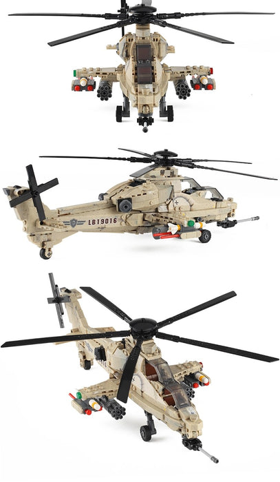 PLAGFAF WZ-10 Attack Helicopter building kit