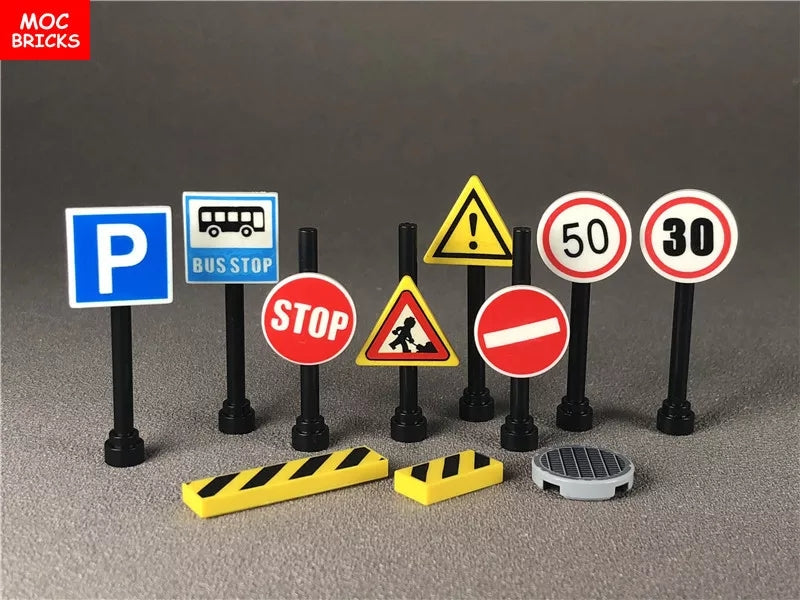 Road construction signs toy