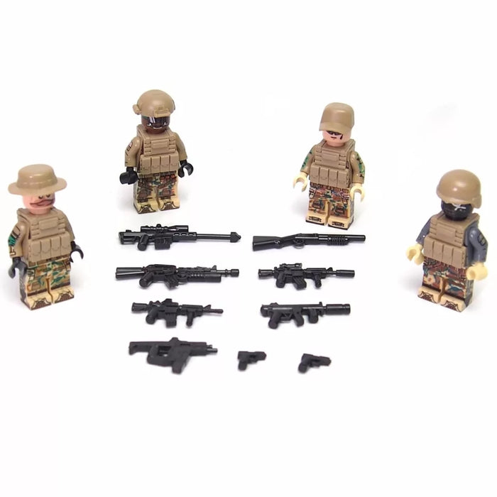 American Army minifigures building block toys