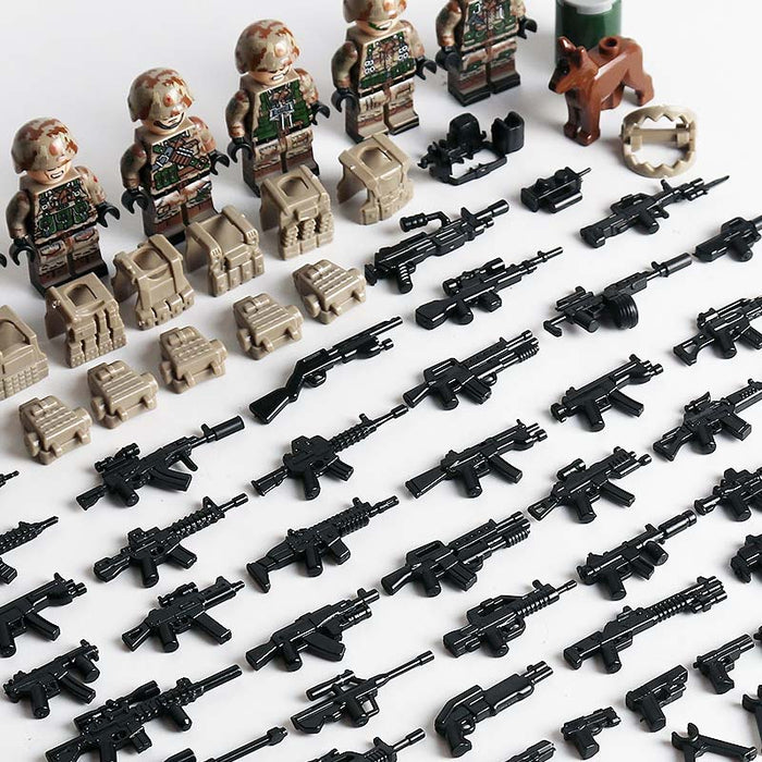 top view of custom Chinese army soldiers