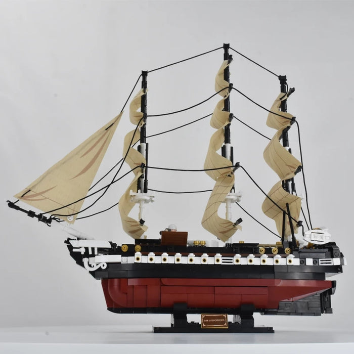 Custom Brick built USS Constitution Naval Frigate