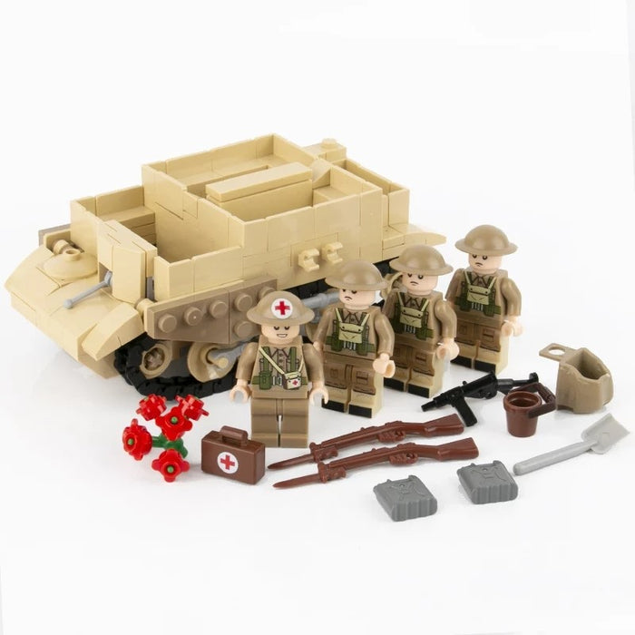 WW2 British Universal Carrier and infantry support