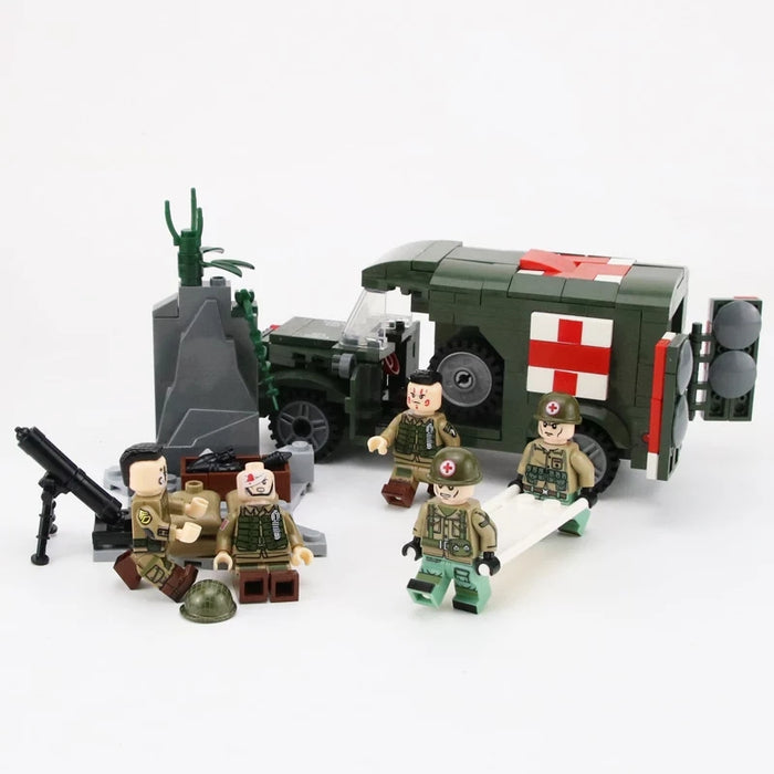 WW2 dodge ambulance and us 82 airborne division