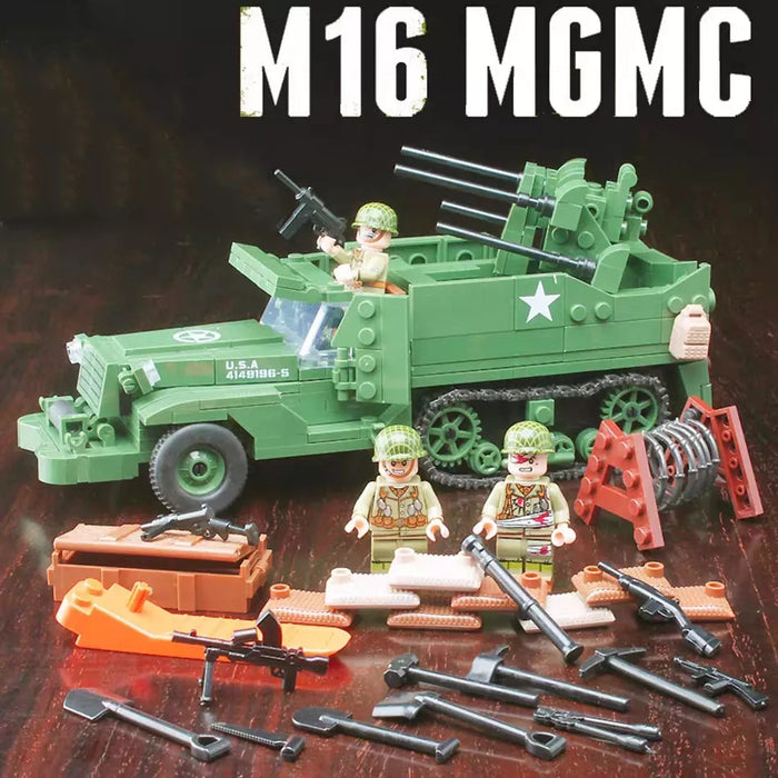 M16 Half track preparing for operation overlord