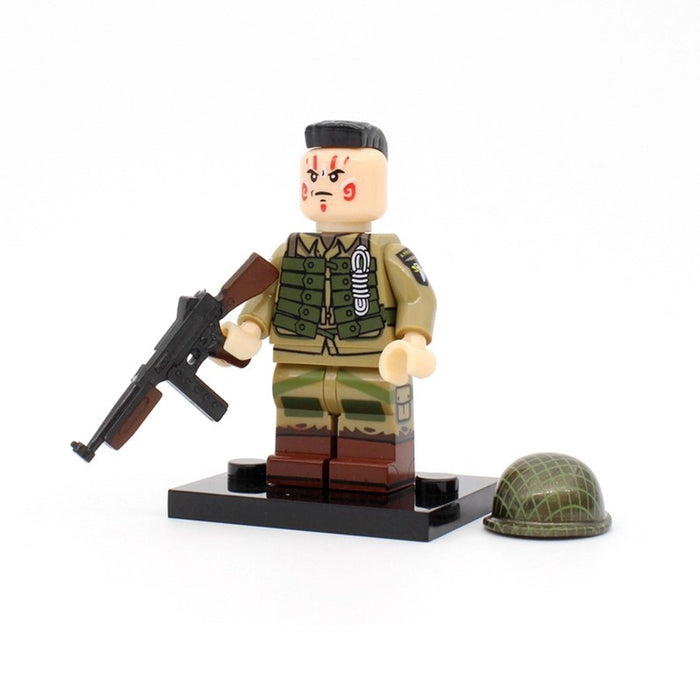 WW2 US 101st Airborne paratrooper custom figure