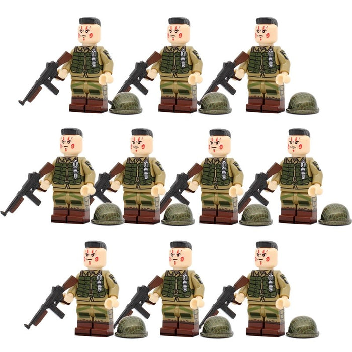 custom 101st ww2 airborne paratroopers figures