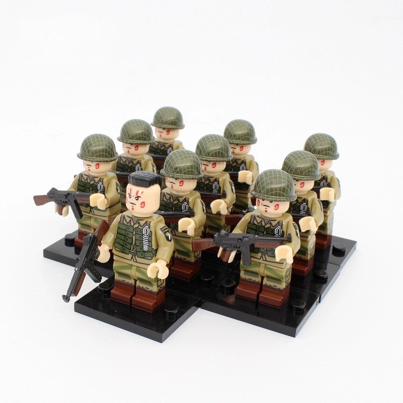 WW2 US Army 101 Airborne Paratroopers V1 x10