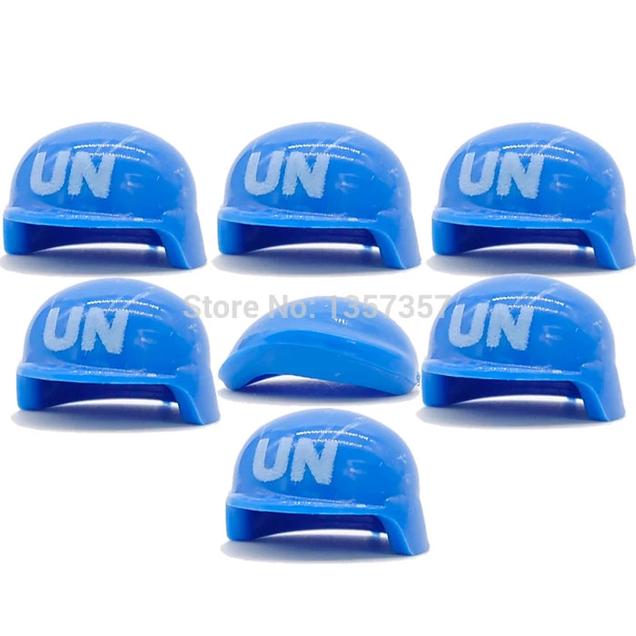 UN Peacekeeper and Helmets x14