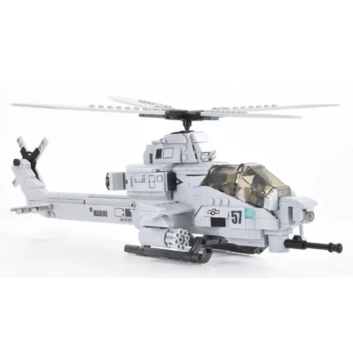 Custom Brick Built  AH-1Z Viper Attack helicopter
