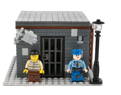 compatible lego city jail moc