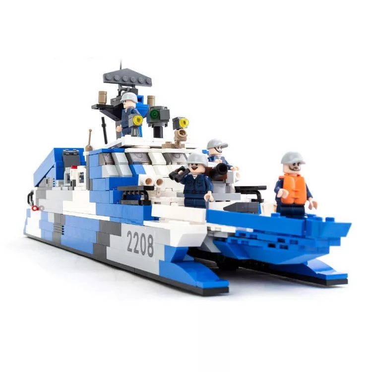 compatible lego Type 22 Missile boat
