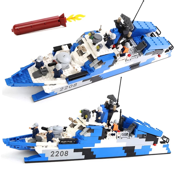 Chinese Liberation Army compatible lego Missile boat Type-22