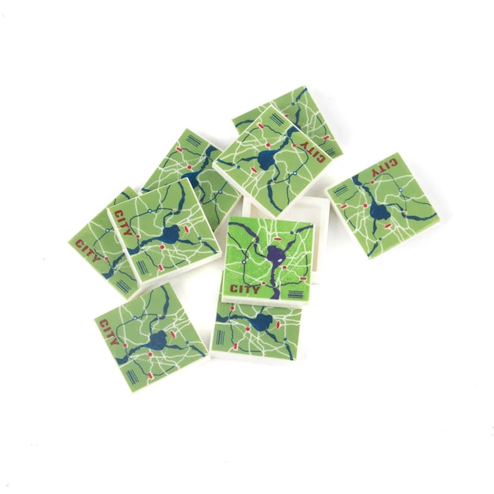 City map printed tile bricks