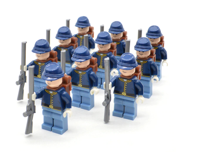 custom lego Union Soldiers