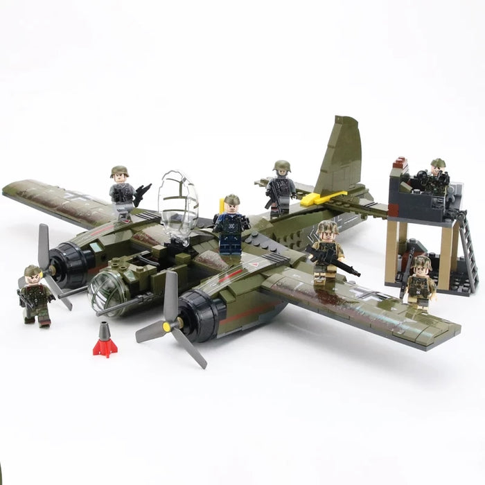WW2 German Spring Infantry with Junker 88 bomber