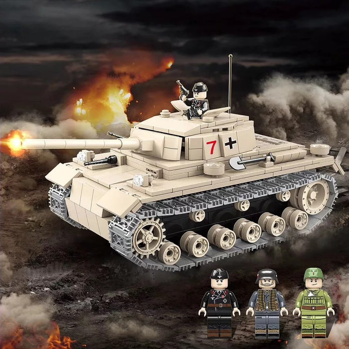 compatible lego Panzer 3 medium tank