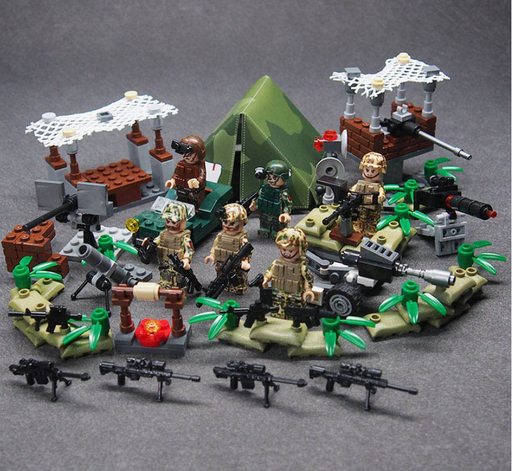 custom lego army camp moc and army base