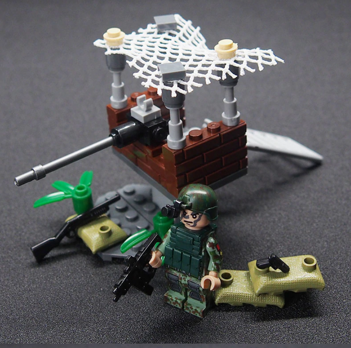 compatible lego army camp moc