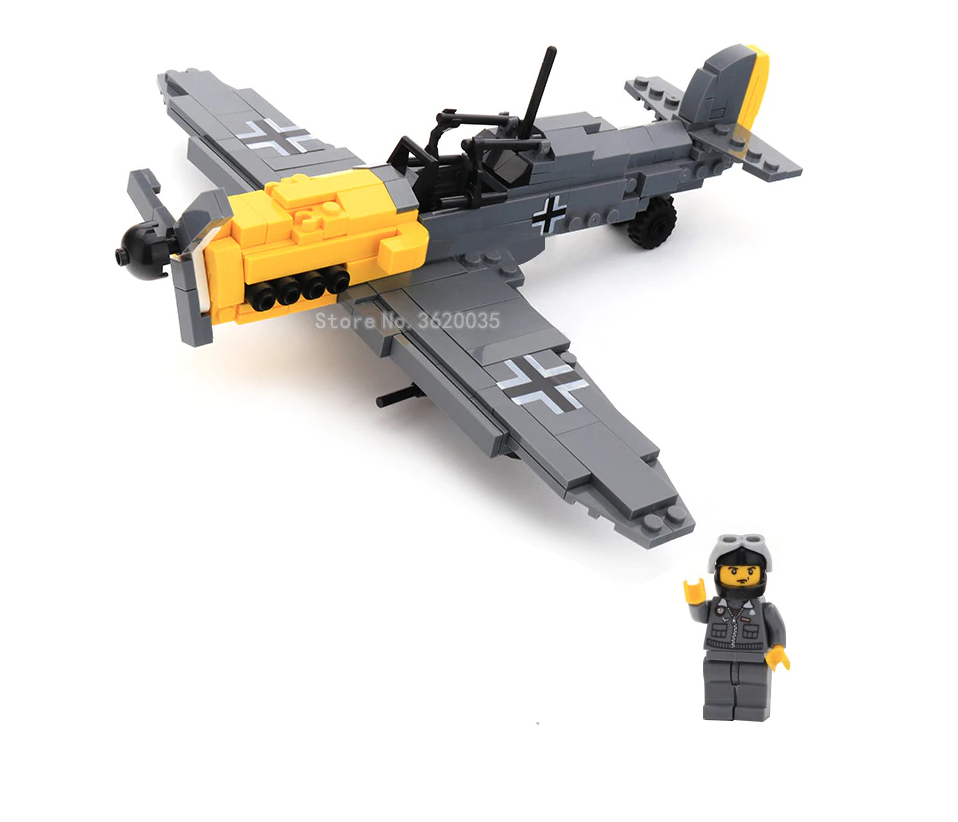 custom lego German BF-109 Fighter Plane