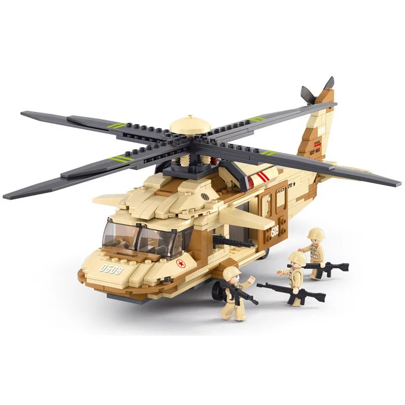 compatible lego UH-60 helicopter