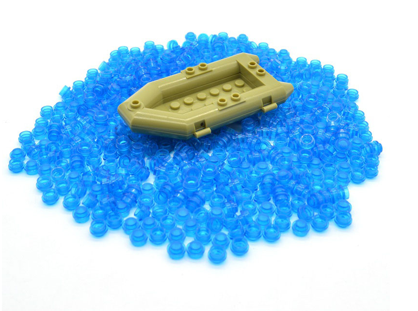 custom lego blue pieces