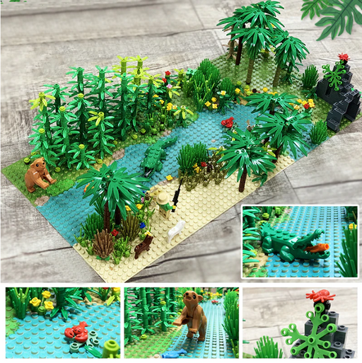 comaptible lego forest creek river moc
