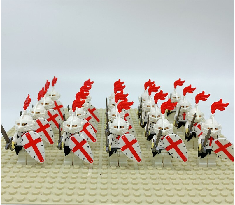 compatible lego army Knights Templars