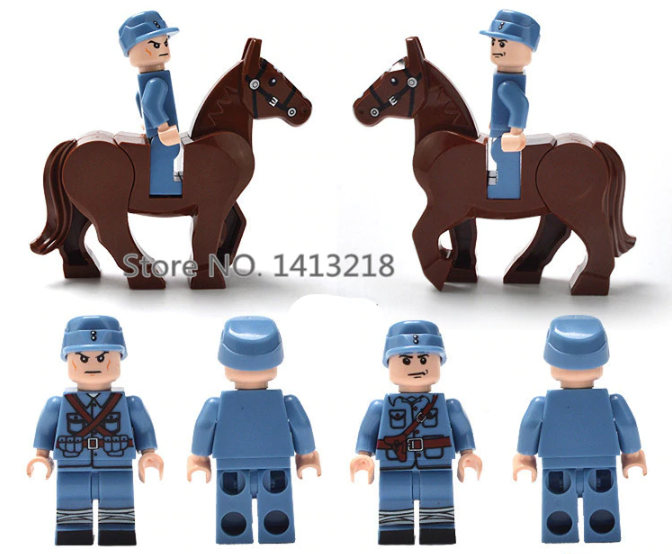 compatible lego french cavalry corps