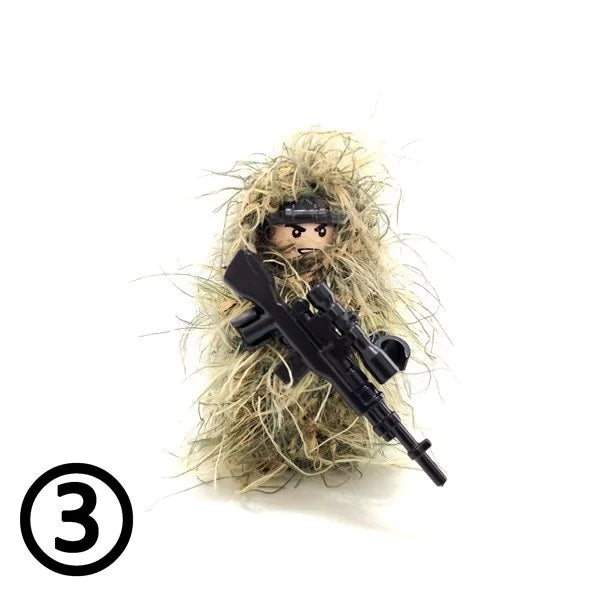 Forest Camo Ghillie Suits x2