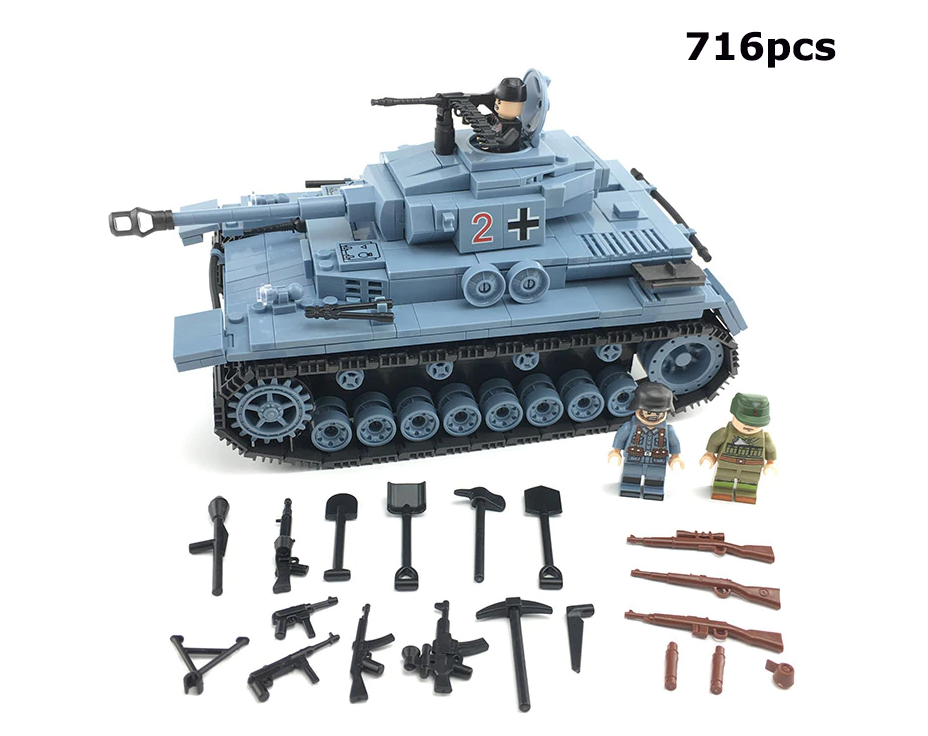 compatible lego german army tank